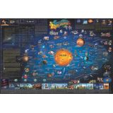 Dino's Children's Illustrated 500-Piece Jigsaw Puzzle, Solar System Map