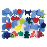 Super Value Dip and Print Painting Sponges, Favorite Shapes