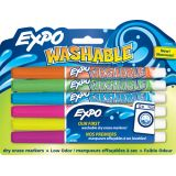 Expo Washable Markers, 3 Pack Fine, Orange, Green, Blue
