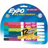 Expo® Low Odor Dry Erase Markers, Fine Tip, 4-color set