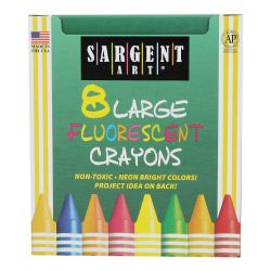 Fluorescent Crayons, 8 colors