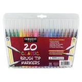 Sargent Art® Classic Brush Tip Markers, 20 count