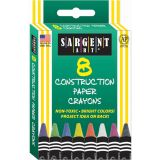 Construction Paper Crayons, 8 colors