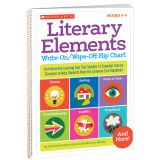 Literary Elements Write-On/Wipe-Off Flip Chart