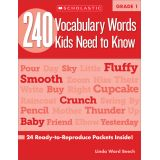 240 Vocabulary Words Kids Need to Know, Grade 3