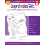Comprehension Skills: Short Passages for Close Reading, Grade 5