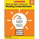 Week-by-Week Homework: Reading Comprehension, Grade 1