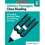 Literary Passages: Close Reading, Grade 6