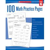 100 Math Practice Pages, Grade 6