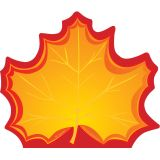 Creative Shapes Notepad, Maple Leaf, Large
