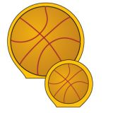 Creative Shapes Notepad, Basketball, Large