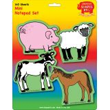 Creative Shapes Notepad, Farm Animals Set, Mini