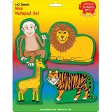 Creative Shapes Notepad, Zoo Animals Set, Mini