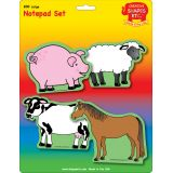 Creative Shapes Notepad, Farm Animals Set, Large