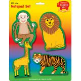 Creative Shapes Notepad, Zoo Animals Set, Large