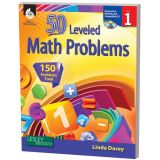 50 Leveled Math Problems, Grade 1