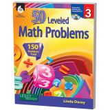 50 Leveled Math Problems, Grade 3
