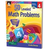 50 Leveled Math Problems, Grade 4