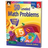 50 Leveled Math Problems, Grade 5