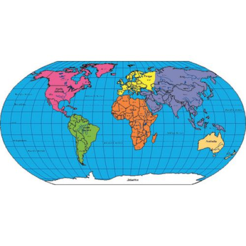 Notepad Labeled World Practice Map SE - Labeled world map