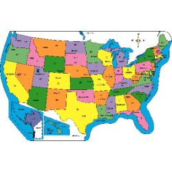 Notepad Labeled US Practice Map SE - Us product map