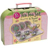 Children's Tin Tea Set in Case