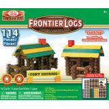 Frontier Logs™, 300-piece set with plastic figures