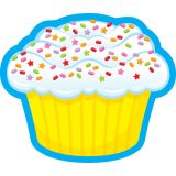 Confetti Cupcake Mini Accents Single Design