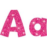 4 Playful Uppercase/Lowercase Ready Letters® Combo Pack, Hot Pink Sparkle