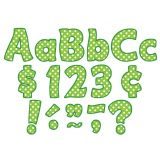 Funtastic Font 4 Letters, Lime Polka Dots, Combo Pack