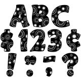 Funtastic Font 4 Letters, Crazy Circles, Uppercase Letters