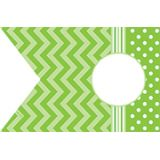 Chevrons and Dots Pennants Accents