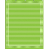 10-Pocket Pocket Chart, Lime Polka Dots