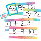 Scribble Alphabet Line Bulletin Board Set