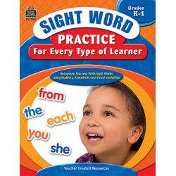 Sight Word Practice for Every Type of Learner, Grades K-1
