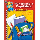 Practice Makes Perfect: Punctuate & Capitalize, Grade 1
