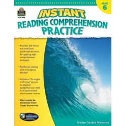 Instant Reading Comprehension Practice, Grade 6
