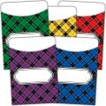 Plaid Library Pockets