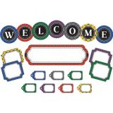 Plaid Welcome Mini Bulletin Board Set