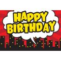 Superhero Happy Birthday Postcards
