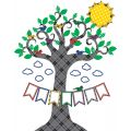 Plaid Tree Bulletin Board Set