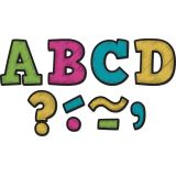 Magnetic 3 Letters, Chalkboard Brights Bold Block