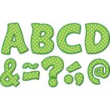 Magnetic 3 Letters, Lime Polka Dots Funtastic