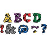 Magnetic 2 Letters, Plaid Bold Block