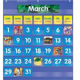 Monthly Calendar Pocket Chart, Blue