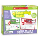 Match, Trace & Write Numbers Learning Mats