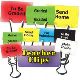 Teacher Clips, 2, To Be Graded, Graded, Send Home, For Volunteer, To Be Filed, Make Copies