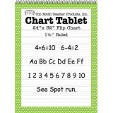 Polka Dot Border Chart Tablet, 24 x 32, 1 1/2 Ruled, Lime