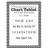 Chevron Border Chart Tablet, 24 x 32, 1 1/2 Ruled, Black