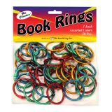 Metal Book Rings, Assorted colors, Pack of 50